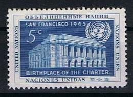Verenigde Naties New York Y/T 12 (**) - New York -  VN Hauptquartier