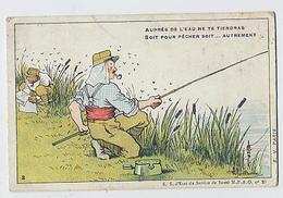 Illustration GUILLAUME: Auprès De L'eau Ne Te Tiendras Soit Pour Pêcher Soit... Autrement (antipaludisme) N°3 -E.V. Pari - Health