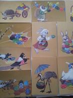 10 Postcards Lietuviškos Su Šv. Velykomis 1991 M./ Lithuanian With St. Easter 11 - Lithuania