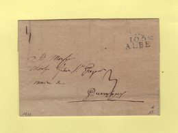Albe - 105 - 1811 - Departement Conquis De La Stura - Storia Postale
