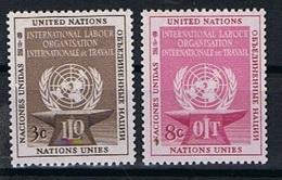 Verenigde Naties New York Y/T 27 / 28 (**) - New York -  VN Hauptquartier