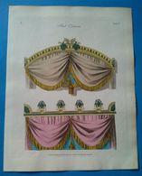 Bed Cornices, Gravure Ancienne Aquarellée Publié En 1804. - Stampe & Incisioni