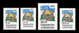 Uzbekistan 1993 Mih. 30/33 Definitive Issue. National Symbols MNH ** - Uzbekistan