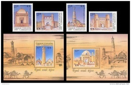 Uzbekistan 1997 Mih. 157/58 + 159 (Bl.18) + 160/61 + 162 (Bl.19) Great Silk Way MNH ** - Uzbekistan
