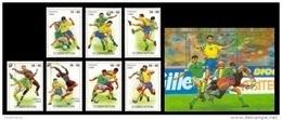 Uzbekistan 1999 Mih. 224/30 + 231 (Bl.24) Football. Soccer MNH ** - Uzbekistan