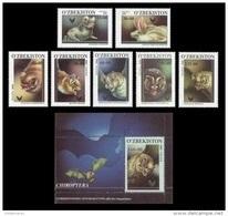 Uzbekistan 2001 Mih. 266/72 + 273 (Bl.26) Fauna. Bats MNH ** - Usbekistan