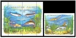 Uzbekistan 2006 Mih. 621/25 (Bl.41/42) Fauna. Fishes MNH ** - Uzbekistan