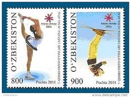 Uzbekistan 2011 Mih. 921/22 Asian Winter Games In Kazakhstan. Figure Skating. Freestyle MNH ** - Uzbekistan