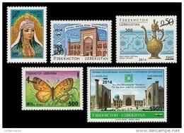 Uzbekistan 2014 Mih. 1086/90 Surcharges MNH ** - Uzbekistan