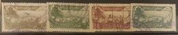 NO11 - Lebanon 1929 Cedar & Landscape Design Justice Renenue Stamps 2p / 3p / 10p / 15p - Lebanon