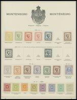 MONTENEGRO *,o , Fast Nur Ungebrauchte Sammlung Montenegro Von 1890-1913 Auf Schaubekseiten, Prachterhaltung - Montenegro