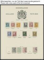 SAMMLUNGEN, LOTS O,* , Fast Nur Gestempelte Sammlung Niederlande Von 1852-1944 Auf Schaubekseiten (Text Bis 1957), Mit G - Netherlands