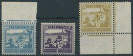 PALÄSTINA 68-70 **, 1927, 90 - 200 M. Landesansichten, 3 Postfrische Prachtwerte - Palestine