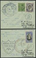 TONGA 39,56,72 BRIEF, 1938, TIN CAN MAIL, 2 Verschiedene Belege Mit Diversen Stempeln, Pracht - Tonga (1970-...)