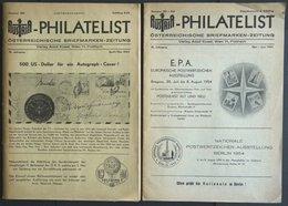 PHIL. LITERATUR Austria-Philatelist, 2 Hefte Nr. 100 Und 101-102, April/Mai Und Mai-Juni 1954, Adolf Kosel Verlag, Mit V - Philately And Postal History
