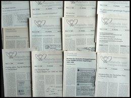 PHIL. LITERATUR Philatelie Und Postgeschichte, 8 Verschiedene Hefte Aus Nr. 83-114 Und Lose Blätter, 1985-1990, U.a. Die - Philatelie Und Postgeschichte