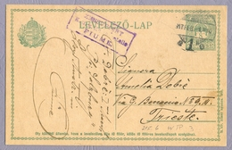 Österreich-Ungarn 1917 K.u.k. Militarzensur Zensurstelle Fiume Rijeka To Trieste Censored Stationery Feldpost Ganzsache - Briefe U. Dokumente