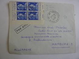 """ERRINOPHILIE  Expédiée HAMBURG ALLEMAGNE """"LES GLIERES"""" Marianne Muller Coin Daté ? Bande Publicité Papier ELC0,  ALB - Marcophilie (Lettres)"""