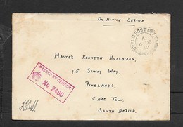 S.Africa ON ACTIVE SERVICE, Unfranked, FIELD POST OFFICE 2  6 DE 40 C.d.s., PASSED BY CENSOR No 2460 - South Africa (...-1961)