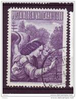 ##9, Vatican, Ange, Poste Aérienne, Airmail, Angel, Fleur, Lys, Lice, Lilly, Léonard De Vinci, Leonardo Da Vinci - Usati