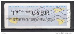 ##4, France, Vignette, D'affranchissement, Avion, Plane, Lettre Prioritaire Internationale - 2000 «Avions En Papier»