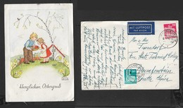 Easter PPC By Martha Wessels,  2 Colour Franking , 70pf, HAMBURG 18 - 4.4.50 > As.aFRICA - BRD