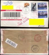 USA 2003. Registered Mail. 4 Stamps. On Stamps Red Fox, Pelican And 2 Of 3.85 Dollars - United States