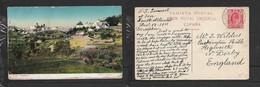 "Santa Brigida, Gran Canaria, PPC, ""S.S. Somerset"" At Sea; Landed ALFRED DOCKS CAPE TOWN 13 DEC 11 > England - South Africa (...-1961)"