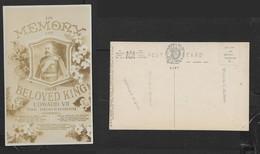Great Britain, Edward VII In Memory, Photo, Unused - Royal Families