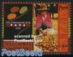 Peru 2008 Year Of The Potato 1v, (Mint NH), Health - Food & Drink - Food