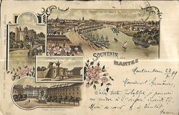 Souvenir De Nantes Multivues     CPA 1899 - Nantes