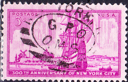 USA - 300 Jahre Stadt New York (MiNr: 647) 1953 - Gest Used Obl - United States