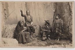 LIMA (Pérou) CPA Péruviens En Costume Traditionnel - Au Dos Récit Détaillé De Voyage - Peru