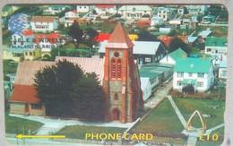 133CFKA Christ Church Cathedral 10 Pounds I - Falkland Islands