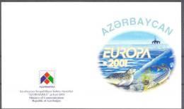 2001. Azerbaijan, Europa 2001, Booklet Of 2 Sets, Mint/** - Azerbaïdjan