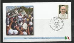 Pape Papst Pope Papa Papiez  Fraçois  Francesco  FDC Lampedusa   Ref 10 - Papes