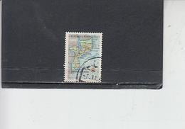 MOZAMBICO  1954 - Yvert  448 - Carta Geografica - Mozambico