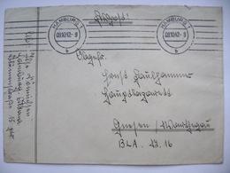 Militaria Feldpost - Cover Machine Cancel Hamburg 9.10.1942 - Militaria