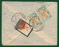 B-36399 Greece 1937. Letter From Kastron To Athens, With Stamps. - Griekenland