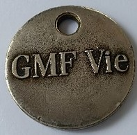 Jeton De Caddie - Assurances - GMF - Vie - En Métal - - Trolley Token/Shopping Trolley Chip