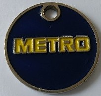 Jeton De Caddie - METRO - En Métal - - Trolley Token/Shopping Trolley Chip