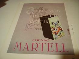 ANCIENNE PUBLICITE MEILLEUR VOEUX COGNAC MARTELL 1953 - Alcools