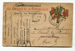 CPA Militaria  :  Franchise Militaire  1916 Pour Boisset Les Prévenches   VOIR  DESCRIPTIF  §§§ - War 1914-18