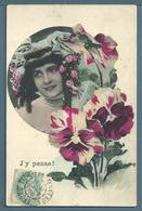 CPA - JEUNE FEMME - J'Y PENSE - Femmes