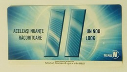 ROMANIA-CIGARETTES  CARD,NOT GOOD SHAPE-0.83 X 0.44 CM - Tobacco (related)