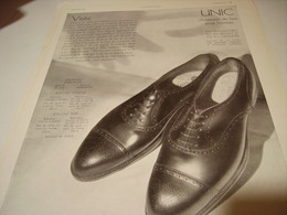 ANCIENNE PUBLICITE CHAUSSURE UNIC 1930 - Habits & Linge D'époque