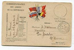 CPA  Militaria  : Franchise Militaire 1914 Pour Famille Mestanier à Andelot     A  VOIR  !!! - War 1914-18