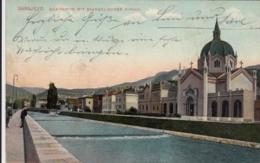 AK - SARAJEVO - Quaipartie Mit Evangelischer Kirche 1909 - Bosnien-Herzegowina