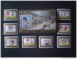 STAMPS YEMEN 1980 FOOTBALL WORLD CHAMPIONSHIP ARGENTINA 78  MICHEAL CATALOGUE 1592/1599 - 1628 SHEET  MNH - Yemen