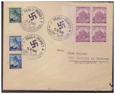 Böhmen Und Mähren (005378) Beleg Mit Sonderstempel 42, Prag, 2 Jahre Im Grossdeutschen Reich Am 15.3.1941 - Böhmen Und Mähren